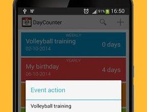 Aplicación para saber cuánto falta para una fecha especial